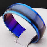 2Pcs Blue Enamel Cat Eyes Stainless Steel Ring Couple Promise Engagement Rings