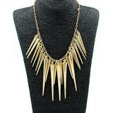 USA Collar Jewelry Vintage Trendy Necklace Rivet Long Tassel Punk Statement