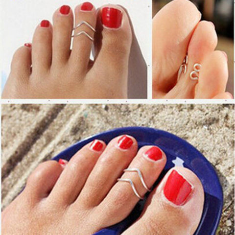 US 2pcs New Vogue Nice Chic Simple Silve Tone Infinity Summer Beach Toe Ring