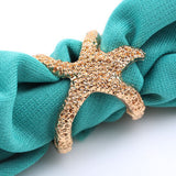 USA Fashion Retro Vintage Fashion Bronze Golden Alloy Sea Animal Starfish Ring