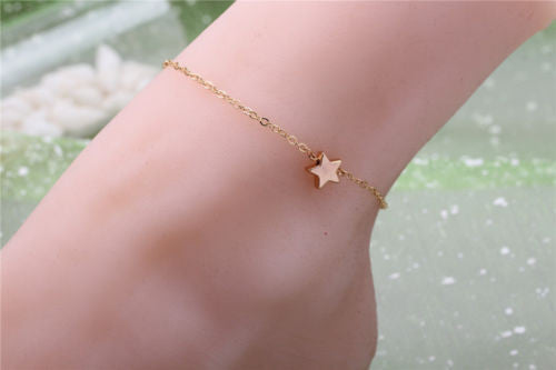 Women Charm Silver Star Anklet Ankle Bracelet Barefoot Sandal Beach Foot Jewelry