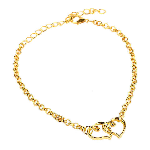women ankle fashion butterfly rose s p anklet bracelet gold jewellery chain
