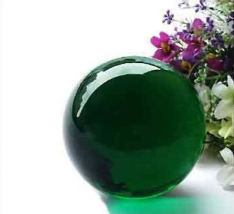 USA 40mm+Stand Asian Rare Natural Green Magic K9 Crystal Healing Ball Sphere