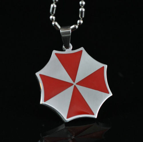Resident Evil Umbrella Corporation Stainless Steel Chain Necklaces Pendant Charm