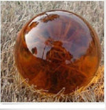 USA 40mm+Stand Asian Rare Amber Color Magic K9 Crystal Healing Ball Sphere