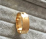 USA 18K Gold Titanium Steel Heartbeat Promise Wedding Engagement Ring Band