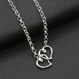 Gold Silver Double Heart Shape Women Anklet Chain Ankle Bracelet Anklets Jewelry