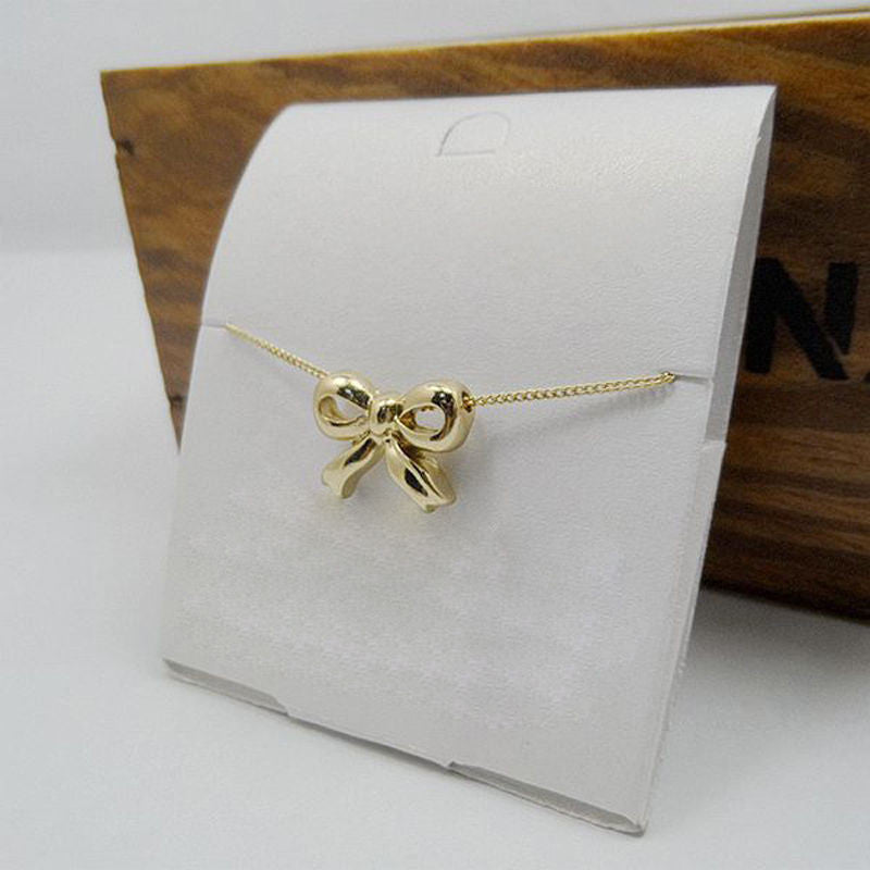 USA Women lady Fashion Chic New Gold Plated Necklace Bow knot Chain Jewelry Gift