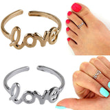 Fashion Simple Love Toe Ring Finger Ring Open Adjustable Foot Beach Ring Jewelry