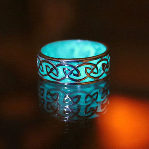 Luminous Glow in the Dark Punk Band Ring Women Men Xmas Fashion Jewelry size 6