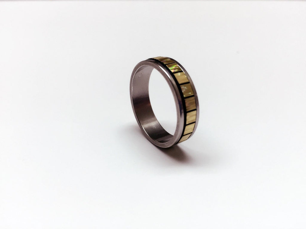 USA Unisex Men Women 5mm Gold Square Stainless Steel Ring Silver Couple Ring
