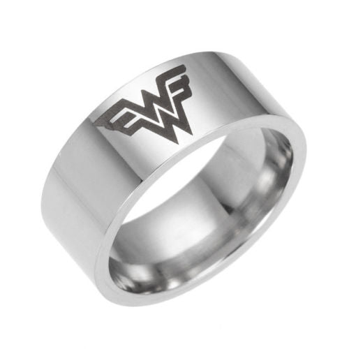 USA Super Girl Wonder Woman Silver Ring Stainless Steel Men Women Band Size 6-13