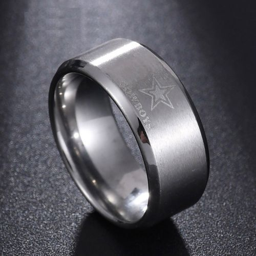 eb132b70750d7 Dallas Cowboys Football Silver Titanium Stainless Steel Men Ring Band Size  6-13