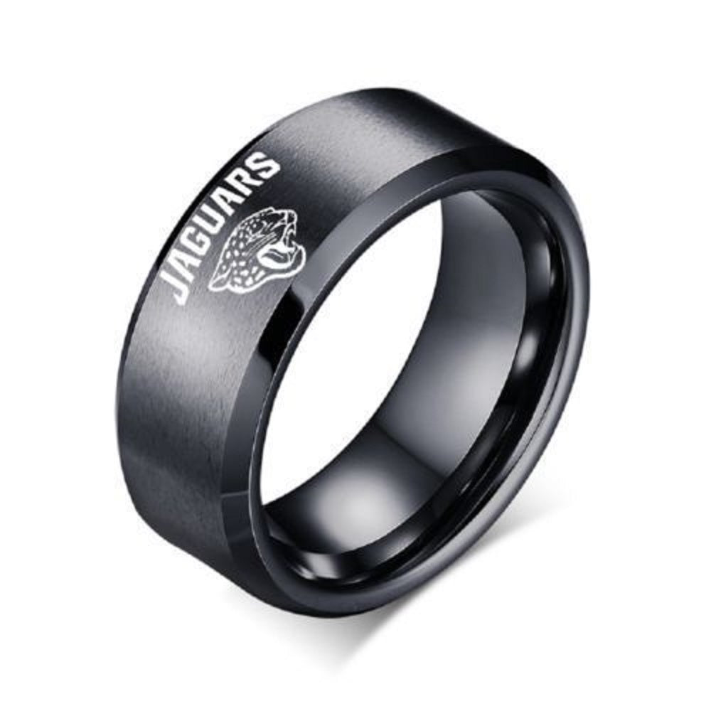 Jacksonville Jaguars Stainless Steel Digital Engraved Men Football Ring Band