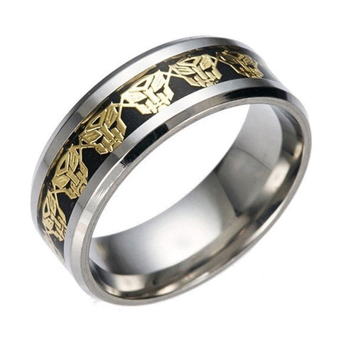 Titanium Stainless steel Gold Transformer Gold Carbon Fiber Silver Ring Band