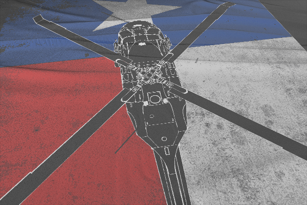 texas black hawk flag