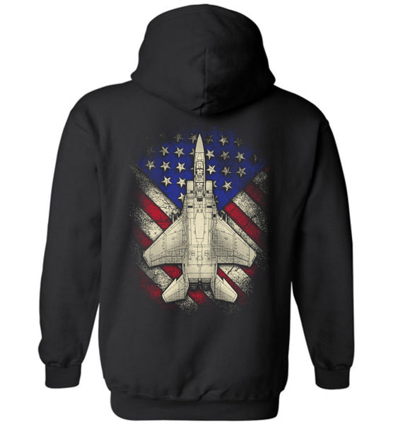 Awesome F-15 Eagle US Flag Hoodie