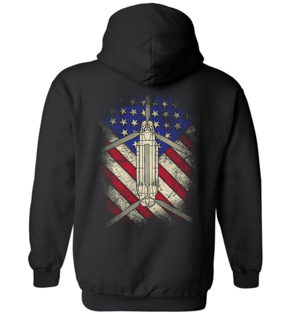 Awesome CH-47 USA Flag Hoodie