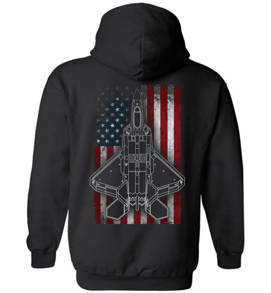 Awesome Patriotic F-22 Flag Unisex Hoodie