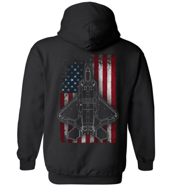 Epic 90th Fighter Squadron F22 Hoodie