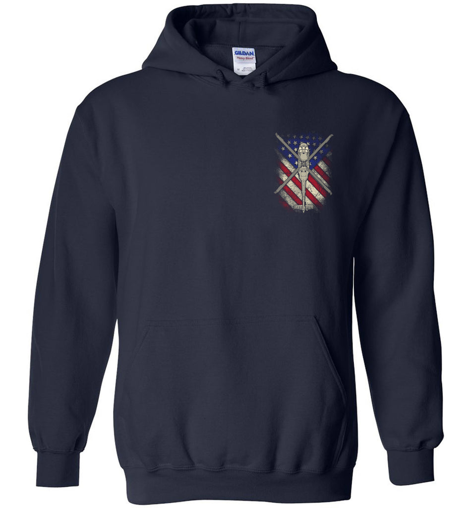 Awesome UH-60 Black Hawk Flag Hoodie
