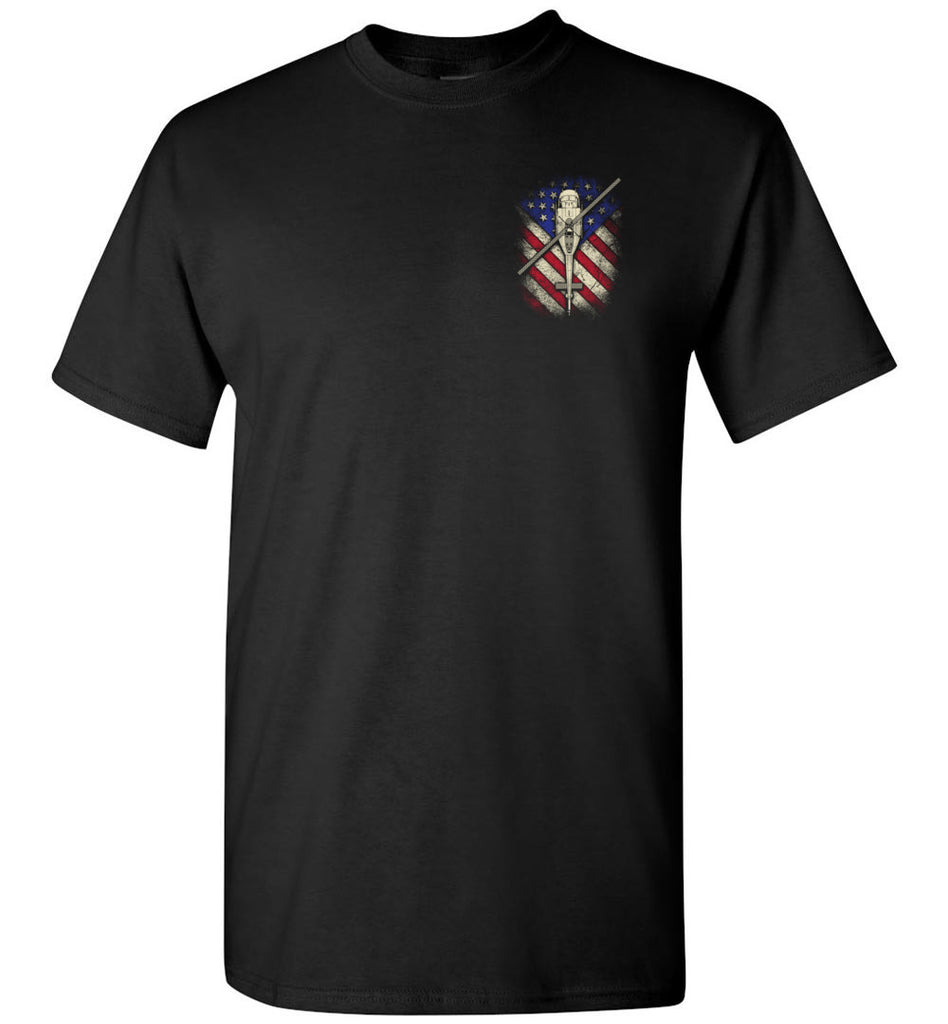 Awesome UH-1 Huey Flag Shirt