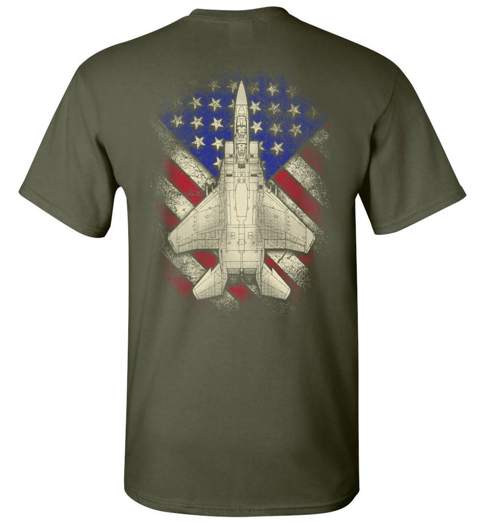 Awesome F-15 Eagle US Flag Shirt