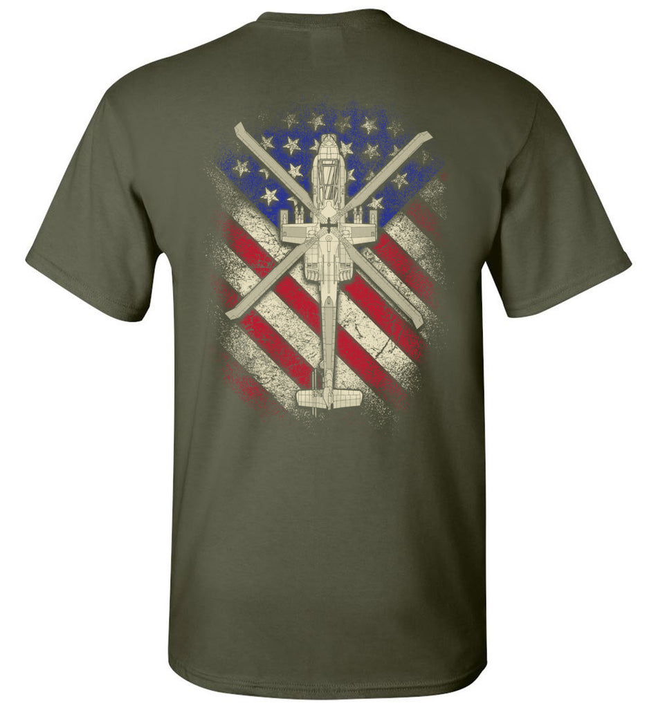 Awesome AH-64 Vintage Flag Shirt