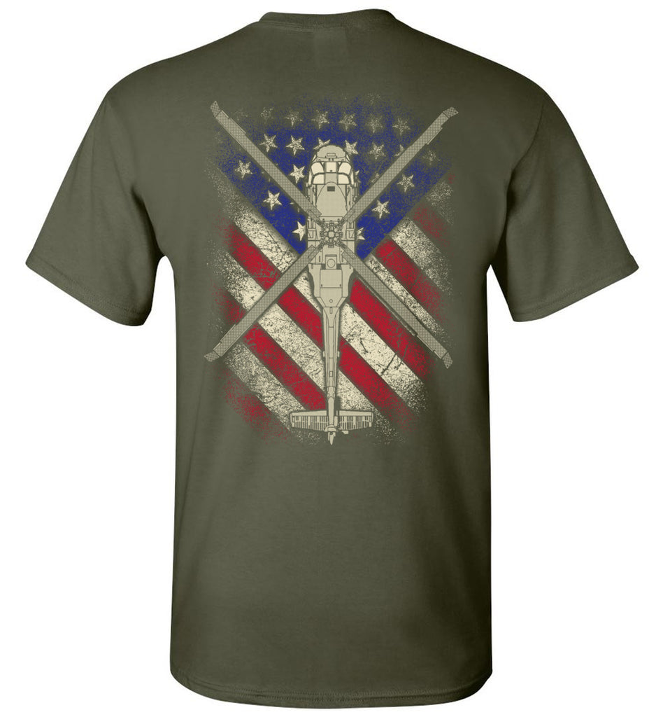 Awesome UH-60 Black Hawk Flag Shirt