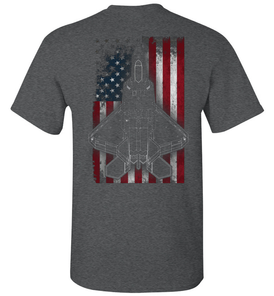 7th Fighter Squadron F-22 Patriotic Unisex Shirt