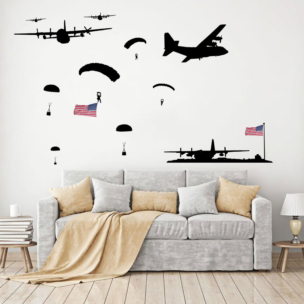 Awesome C-130 Mighty Herc Oversized Wall Decal Set
