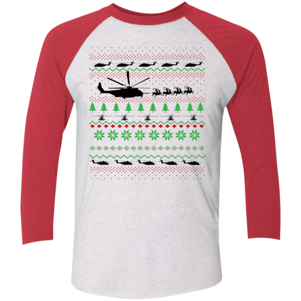 Awesome CH-53E Raglan Christmas Shirt