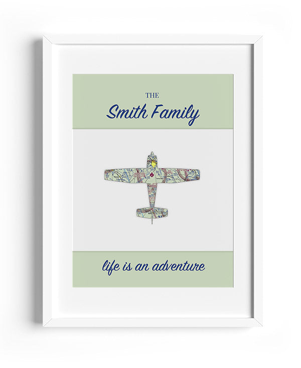 Life is an Adventure Aviation Print