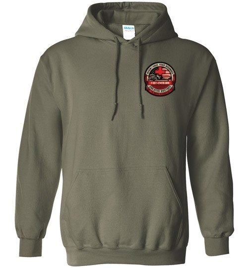 T-shirt - 1-214th AVN Dustoff Hoodie Multicam Flag Design