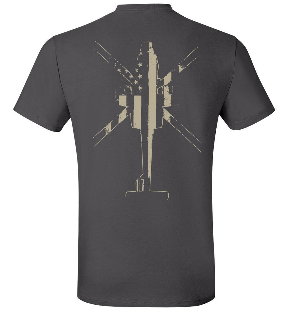 T-shirt - AH-64 Vintage US Flag Shirt