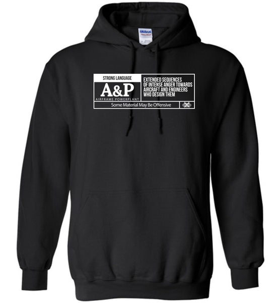 T-shirt - Aircraft Mechanic Rating Label Hoodie