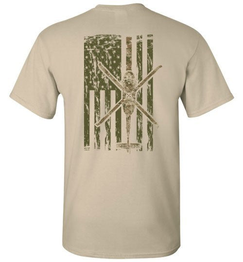 T-shirt - Awesome 1-214th AVN Dustoff Tan Shirt!
