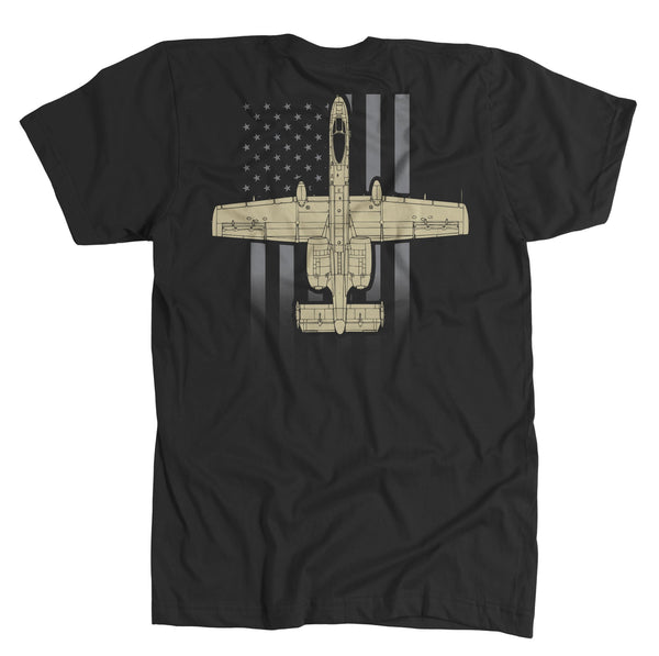 T-shirt - Awesome A-10 Faded US Flag Shirt