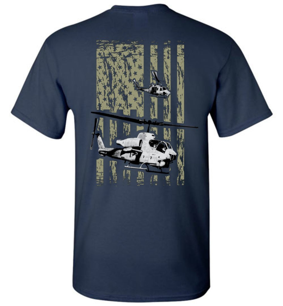 T-shirt - Awesome AH-1W And UH-1N Flag Shirt!