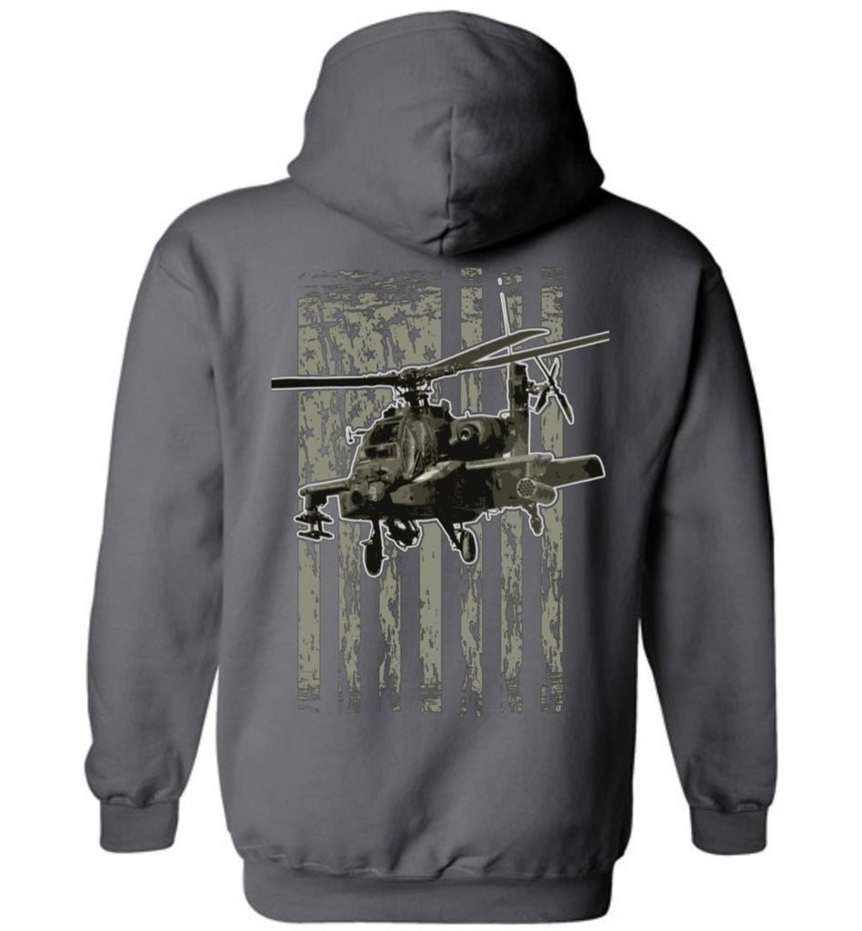 T-shirt - Awesome AH-64 Flag Hoodie