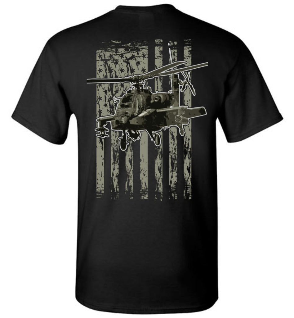 T-shirt - Awesome AH-64 Flag Shirt