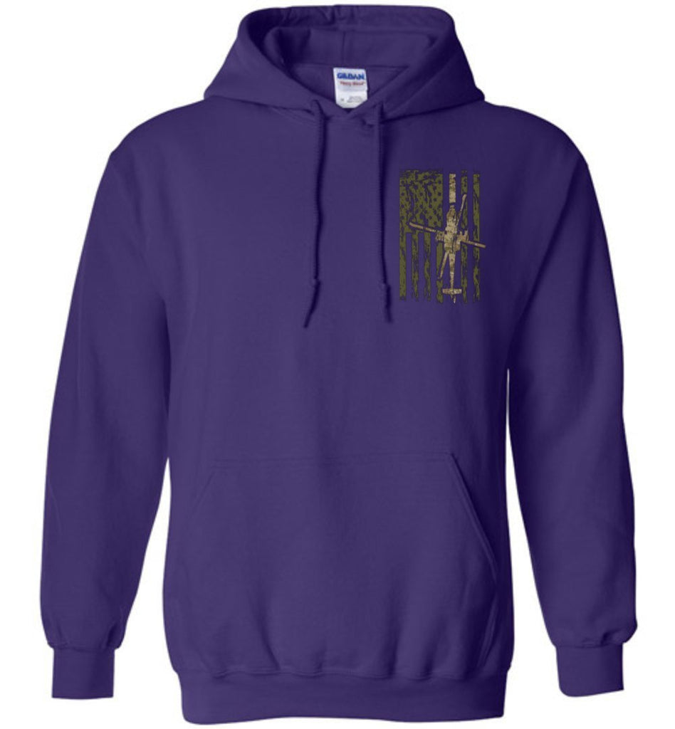 T-shirt - Awesome AH-64 Multicam Flag Hoodie!