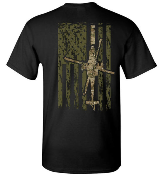 T-shirt - Awesome AH-64 Multicam Flag Shirt!