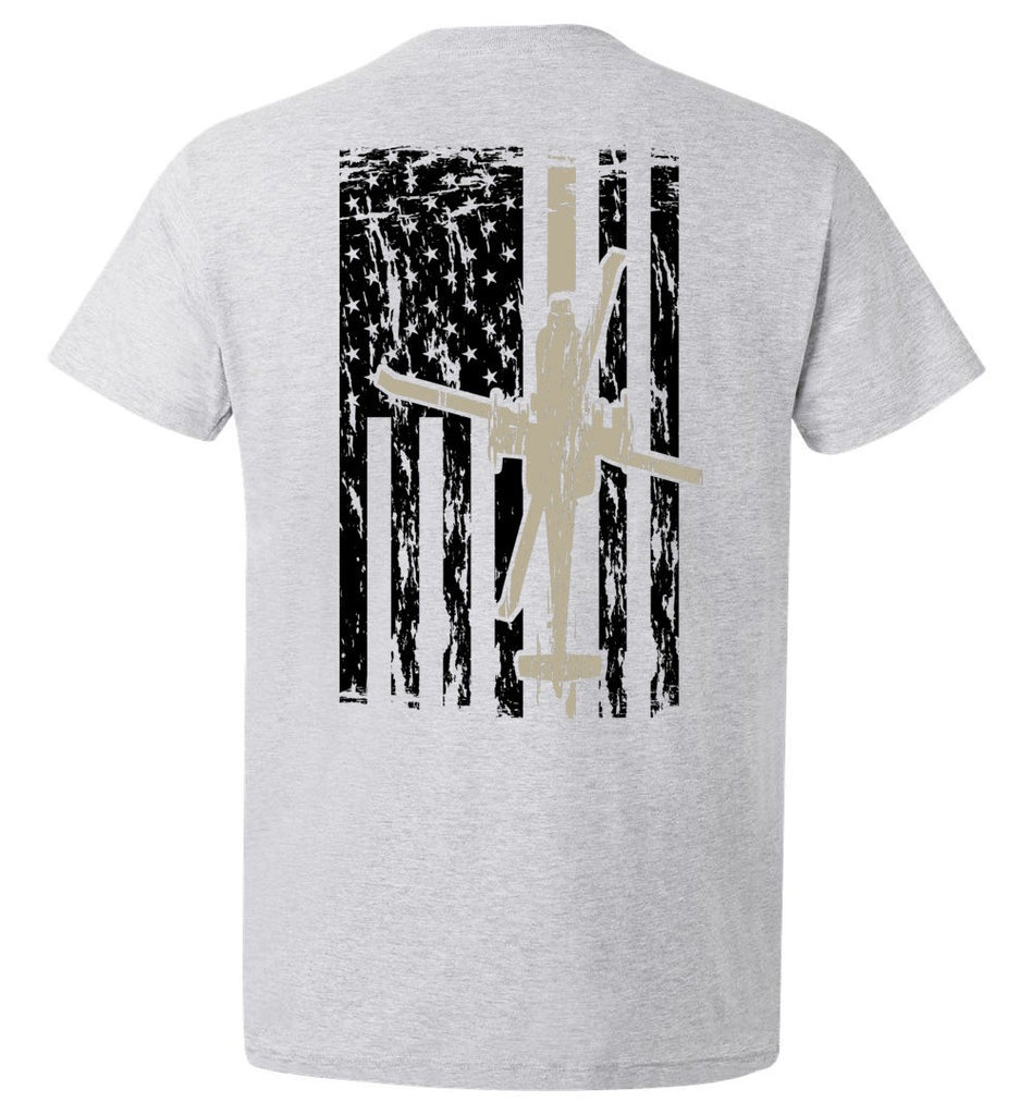 T-shirt - Awesome AH-64 US Flag Shirt