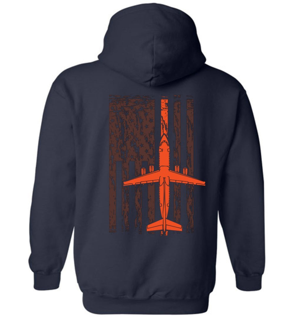 T-shirt - Awesome BAe-146 Flag Hoodie In Air Wisconsin Colors!