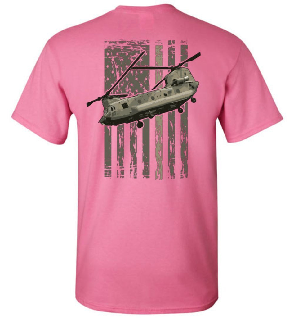 T-shirt - Awesome CH-47 Hookers Flag Shirt