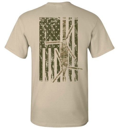 T-shirt - Awesome CH-47 Multicam Flag Shirt!