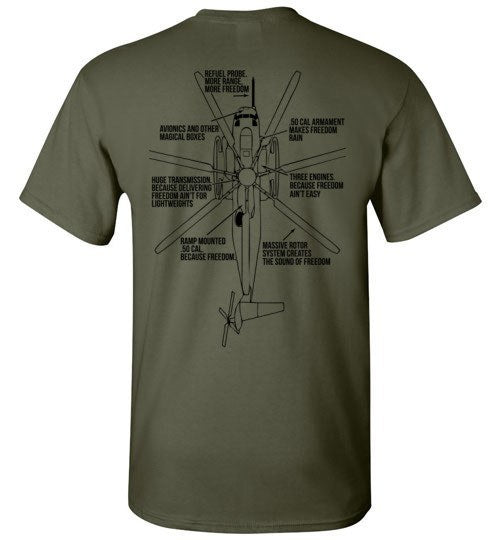 T-shirt - Awesome CH-53 Flying Tiger Freedom Shirt!