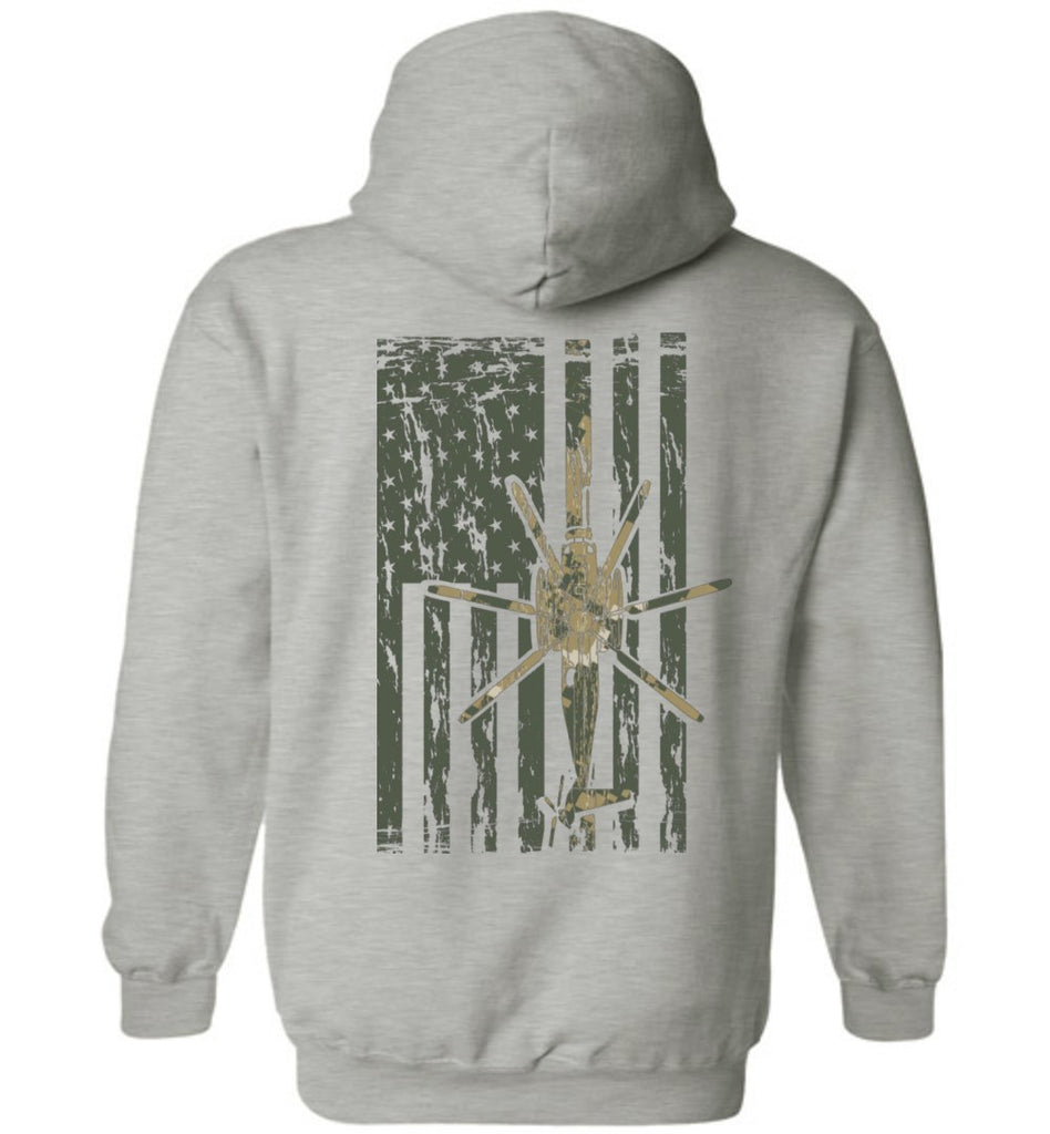T-shirt - Awesome CH-53 MARPAT Camo Flag Hoodie!
