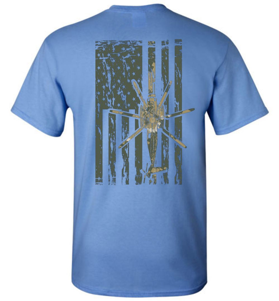 T-shirt - Awesome CH-53 MARPAT Camo Flag Shirt!